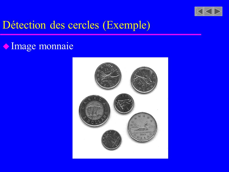 Détection des cercles (Exemple)