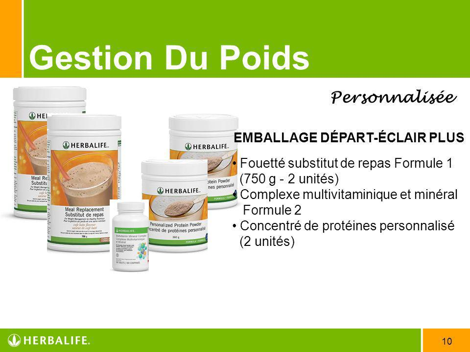 Gestion Du Poids Personnalisée EMBALLAGE DÉPART-ÉCLAIR PLUS