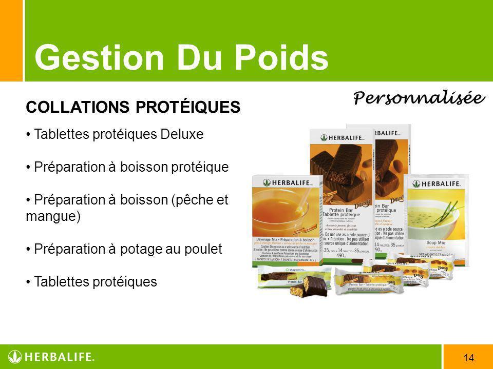 Gestion Du Poids Personnalisée COLLATIONS PROTÉIQUES