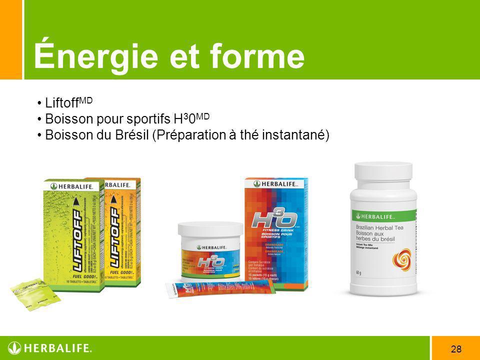 Énergie et forme LiftoffMD Boisson pour sportifs H30MD