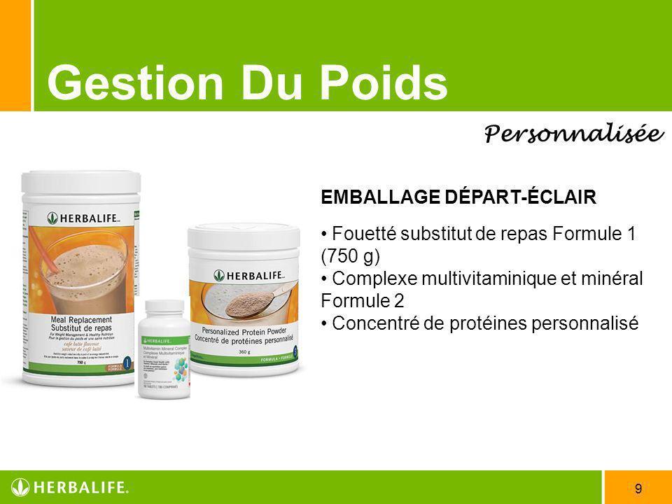 Gestion Du Poids Personnalisée EMBALLAGE DÉPART-ÉCLAIR