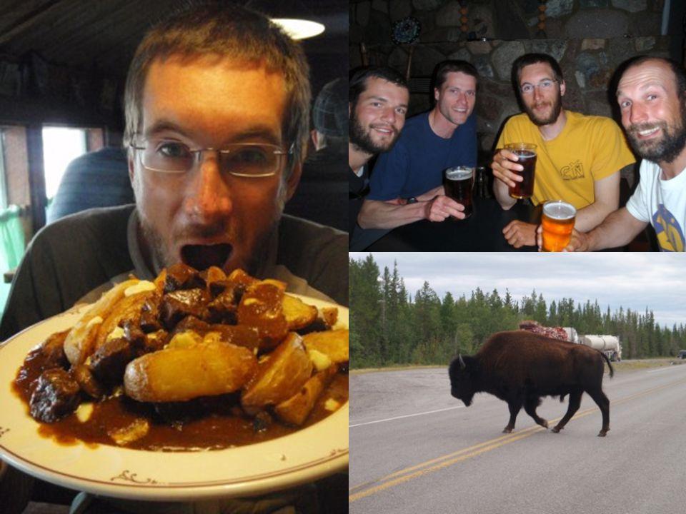 Retour a Yellowknife Une bière ! De le nourriture non lyophilisée