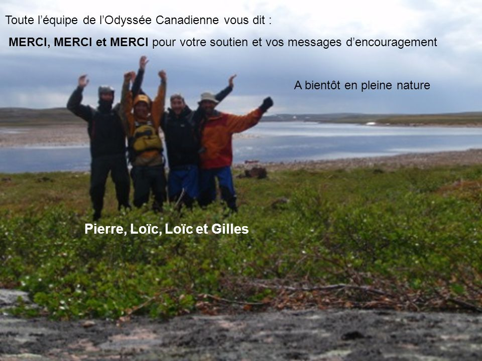 Pierre, Loïc, Loïc et Gilles
