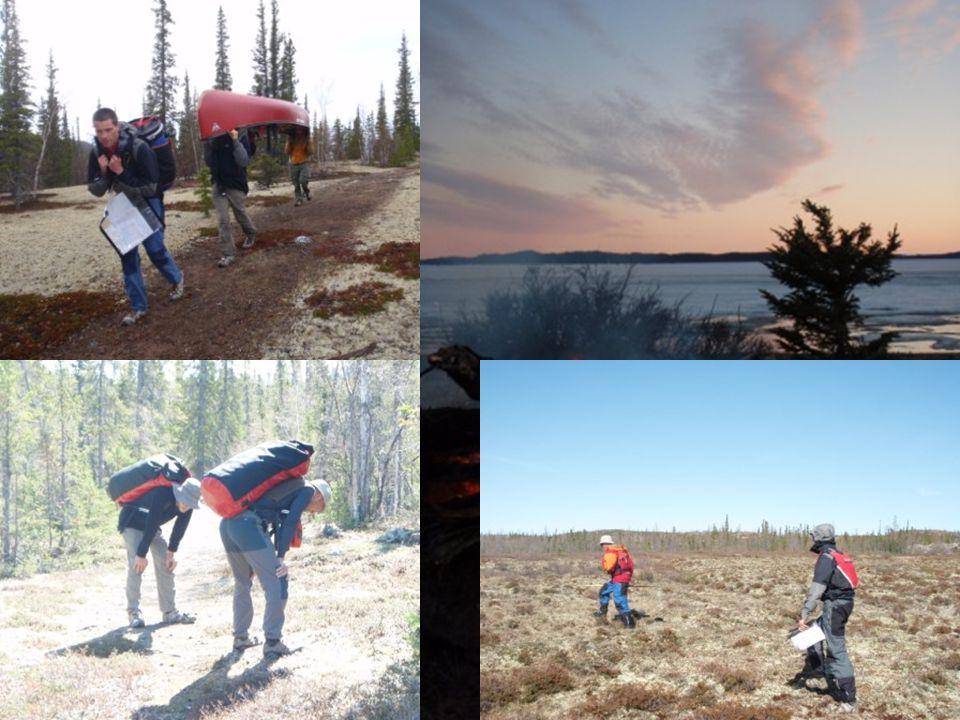 Pike's Portage 35 km de petits lacs et de sentiers 100 kg par personne