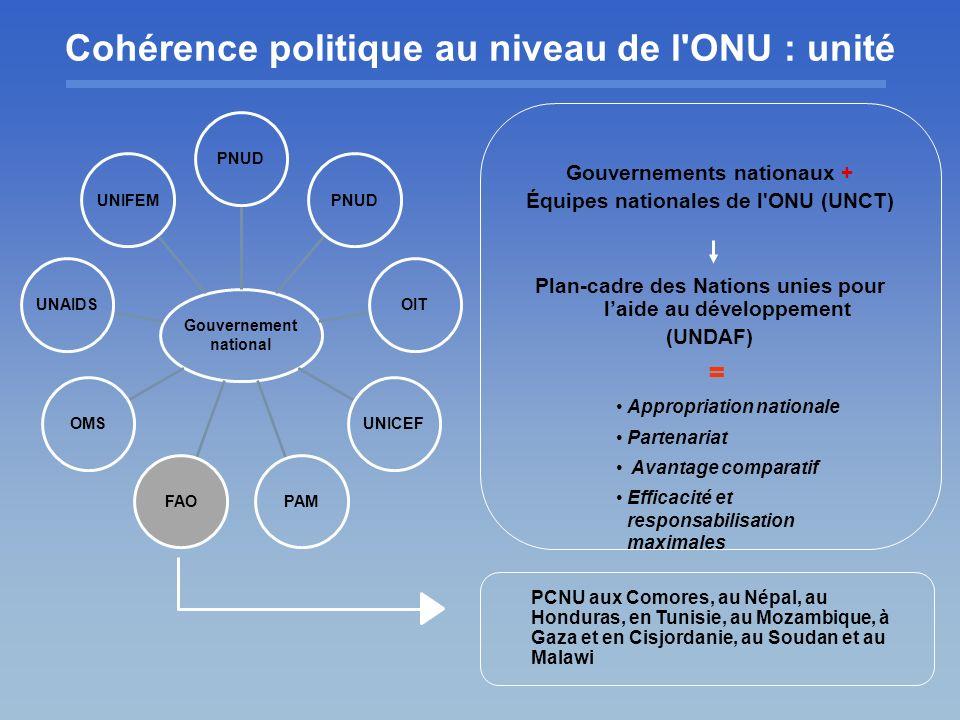 Cohérence politique au niveau de l ONU : unité