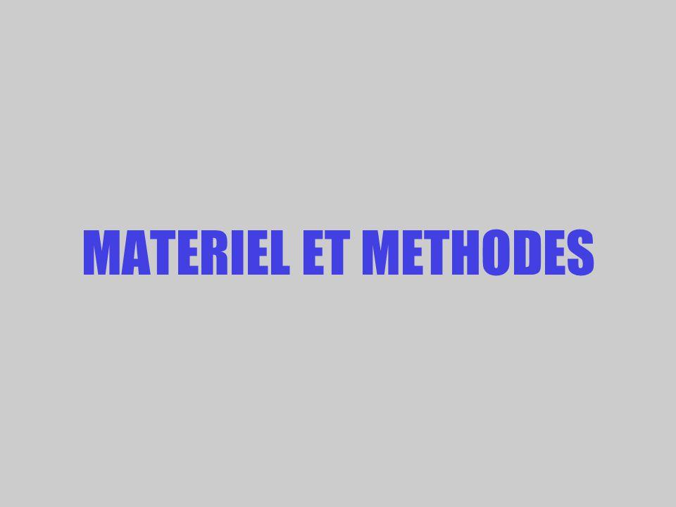MATERIEL ET METHODES
