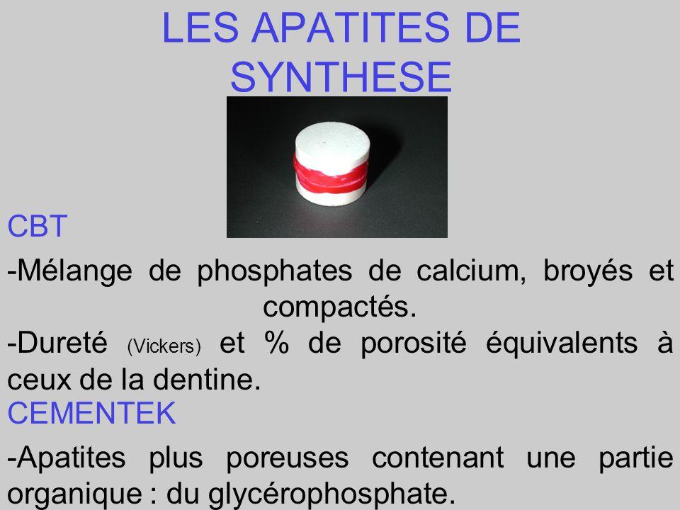 LES APATITES DE SYNTHESE