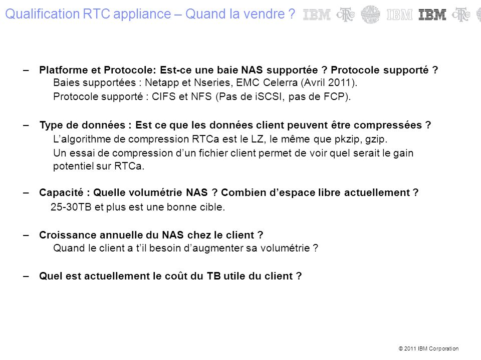 Qualification RTC appliance – Quand la vendre