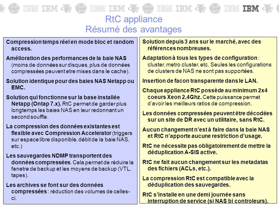 RtC appliance Résumé des avantages
