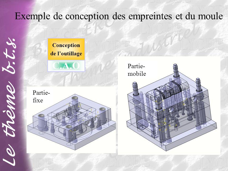Exemple de conception des empreintes et du moule
