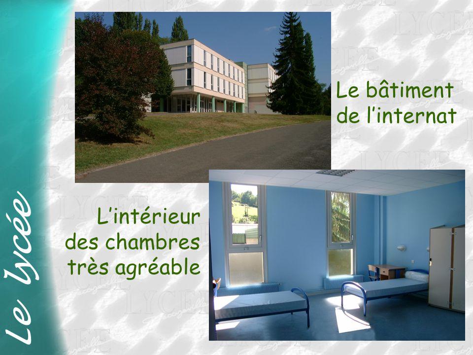 Le lycée Le bâtiment de l'internat L'intérieur des chambres