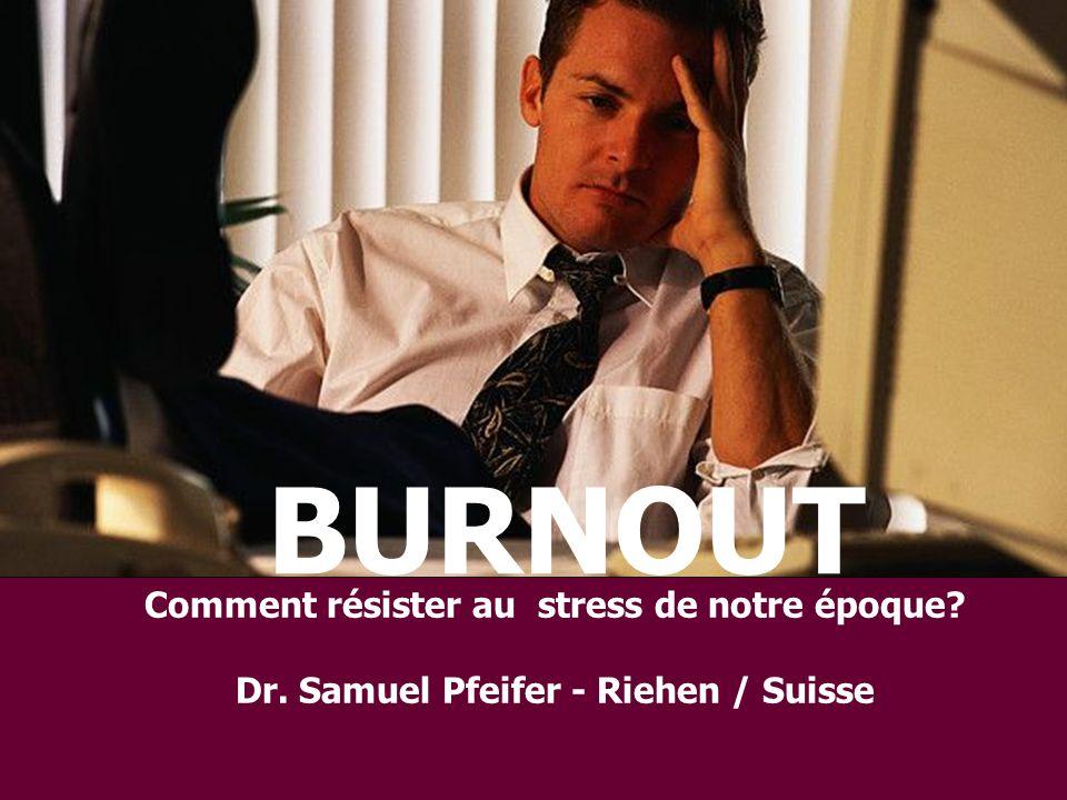 BURNOUT Comment résister au stress de notre époque