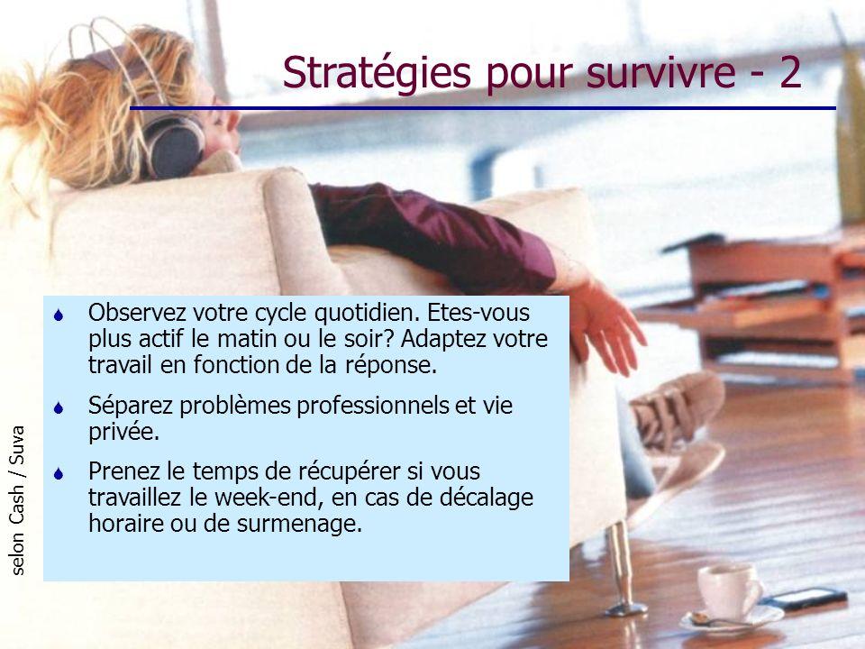 Stratégies pour survivre - 2
