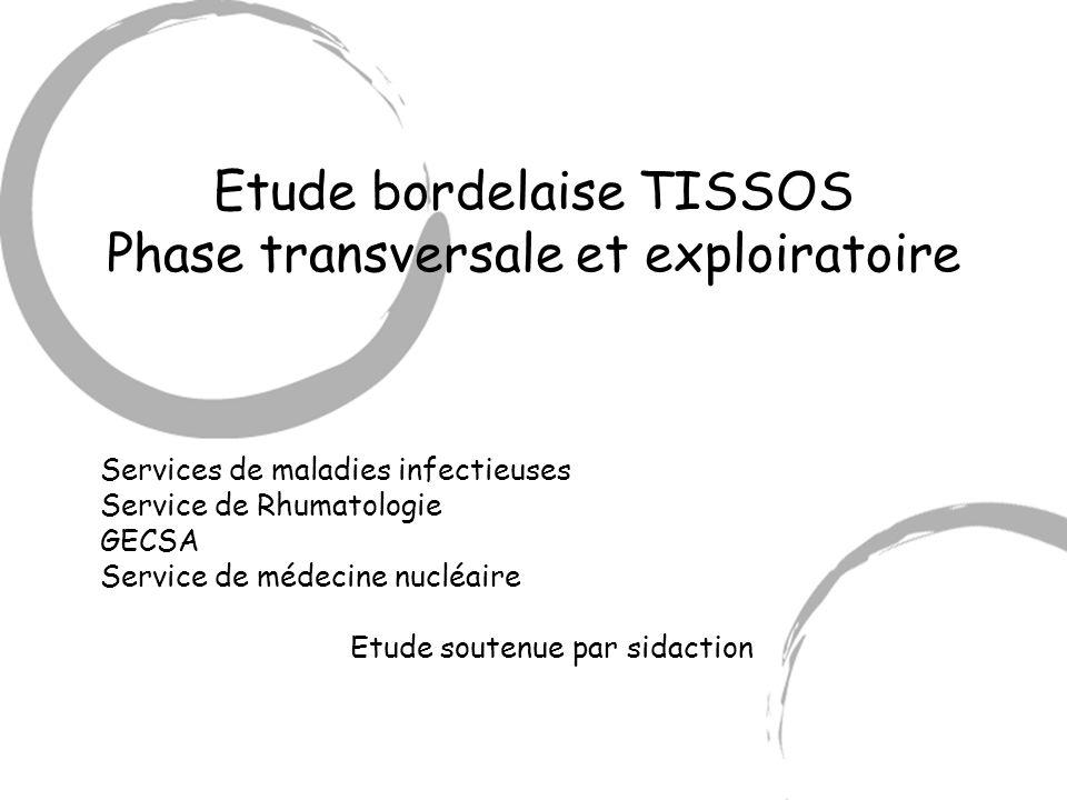 Etude bordelaise TISSOS Phase transversale et exploiratoire