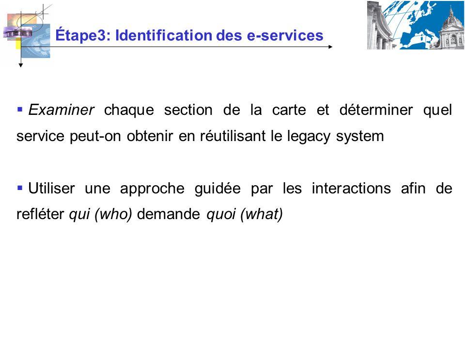 Étape3: Identification des e-services
