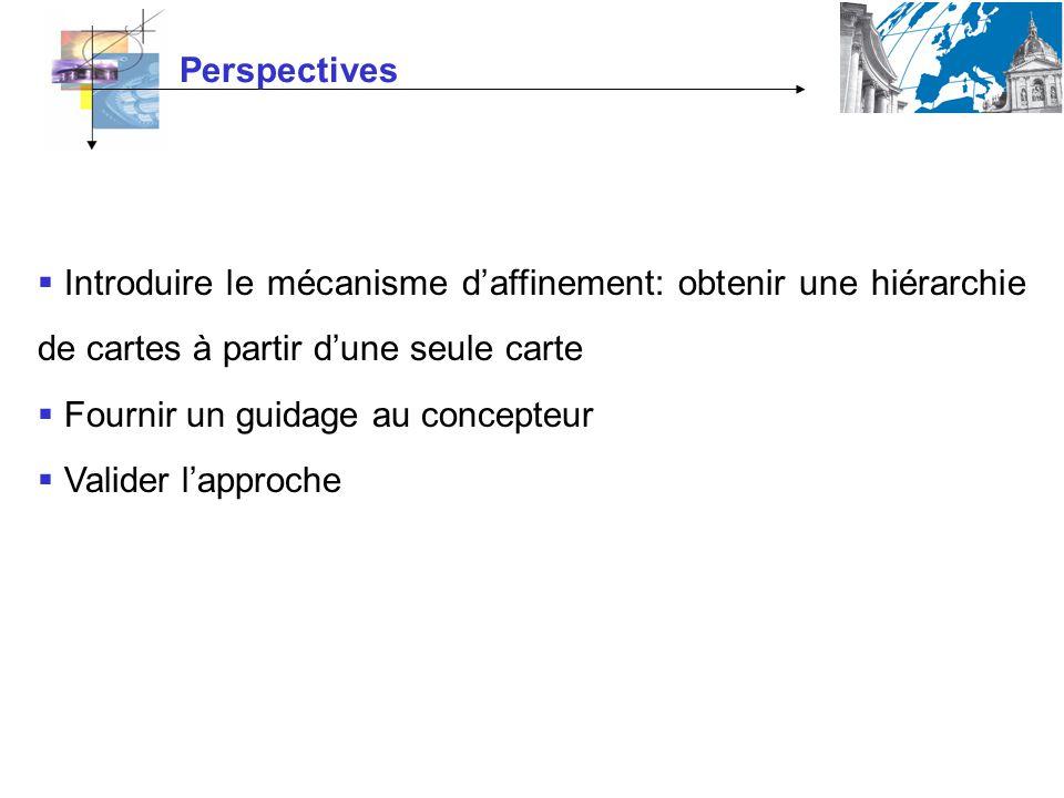 Perspectives Introduire le mécanisme d'affinement: obtenir une hiérarchie de cartes à partir d'une seule carte.