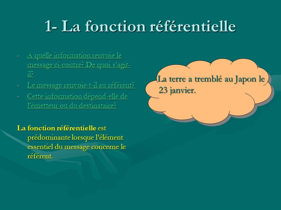 1- La fonction référentielle