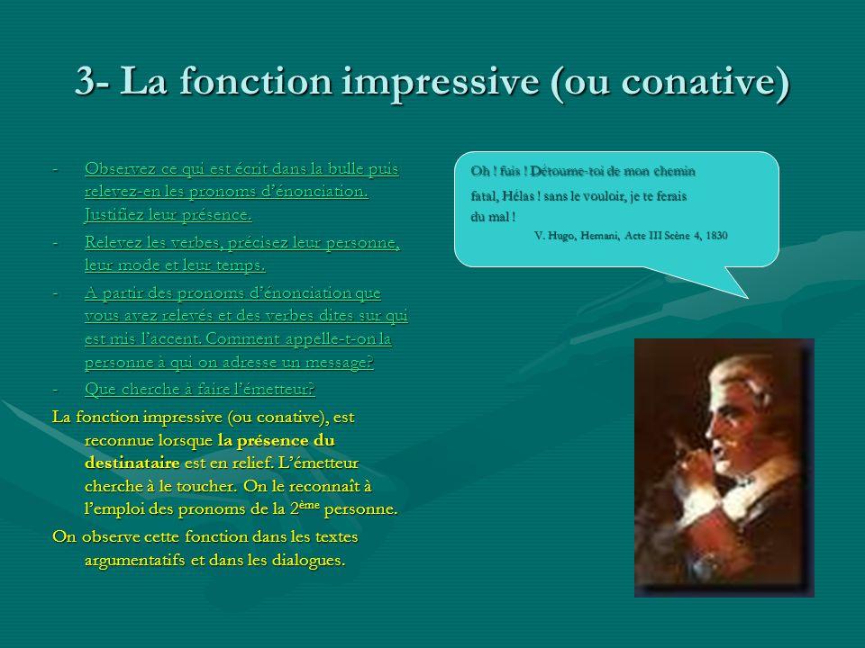 3- La fonction impressive (ou conative)