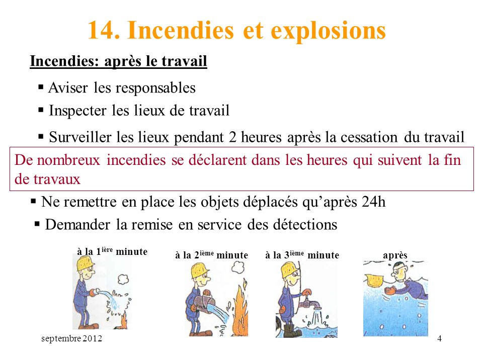 14. Incendies et explosions