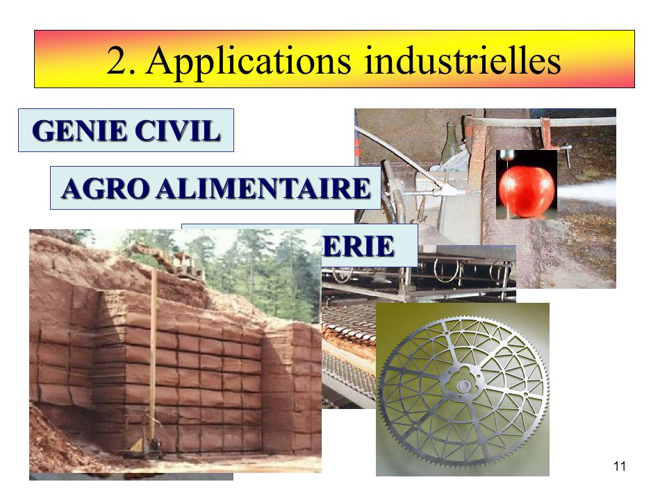 2. Applications industrielles