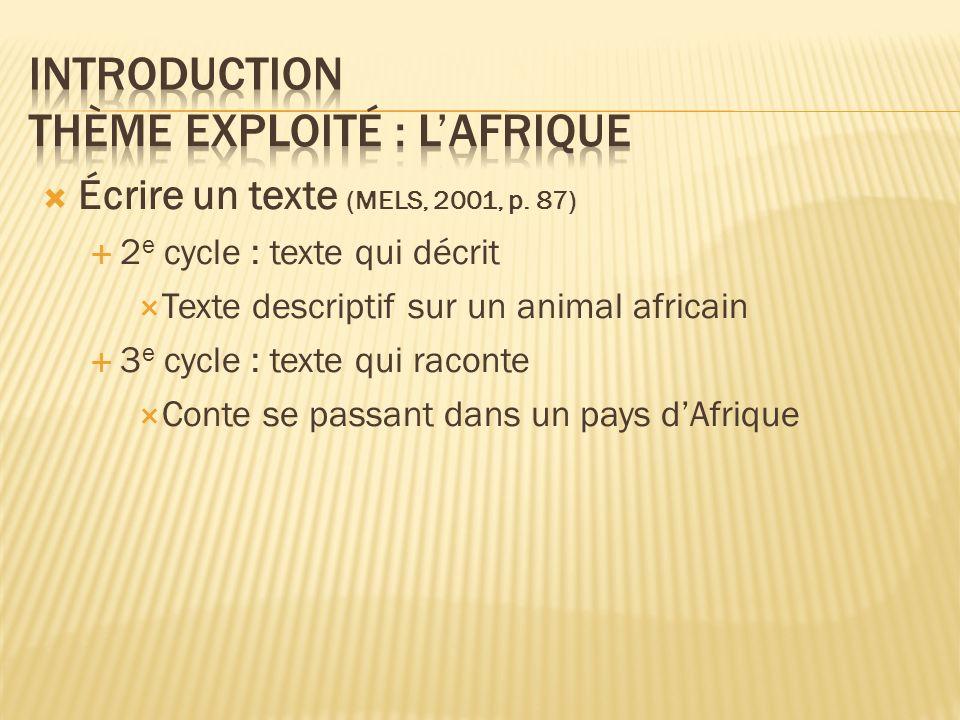 Introduction Thème exploité : l'Afrique