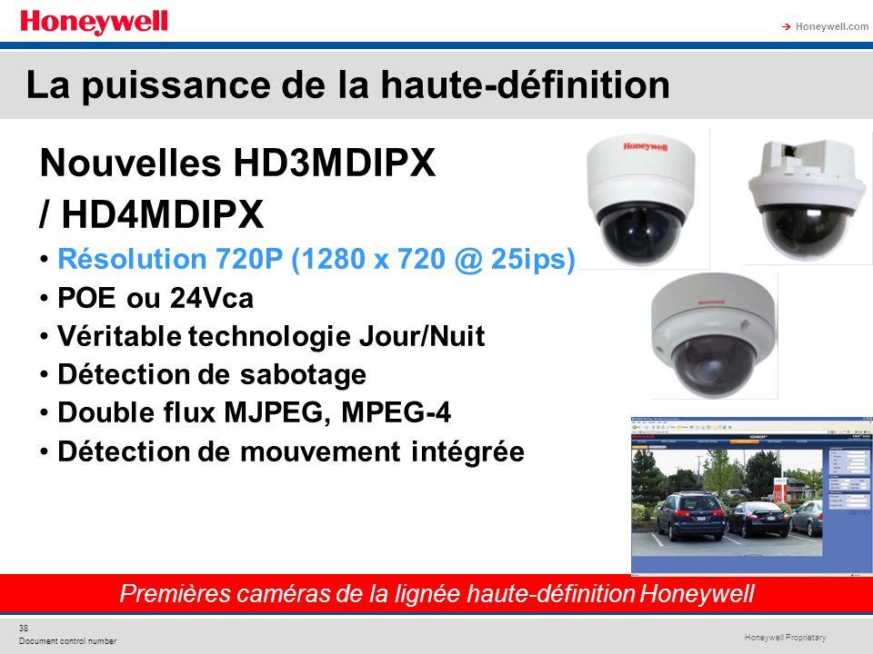 Premières caméras de la lignée haute-définition Honeywell