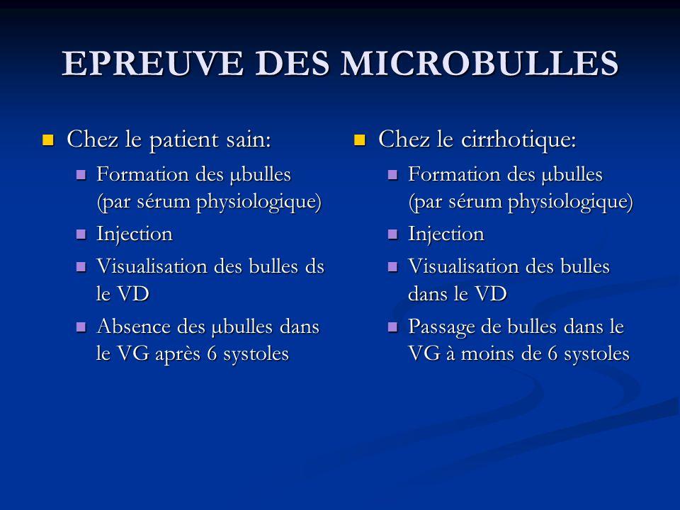 EPREUVE DES MICROBULLES