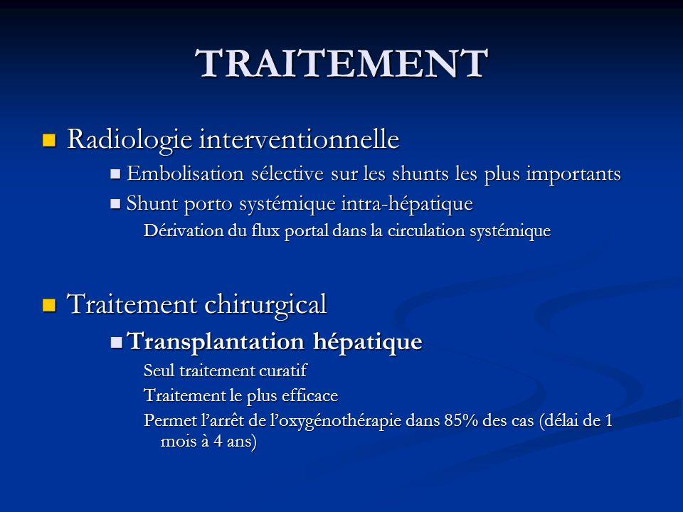 TRAITEMENT Radiologie interventionnelle Traitement chirurgical