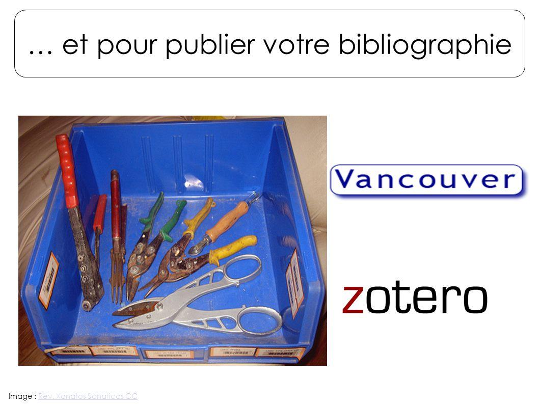 … et pour publier votre bibliographie