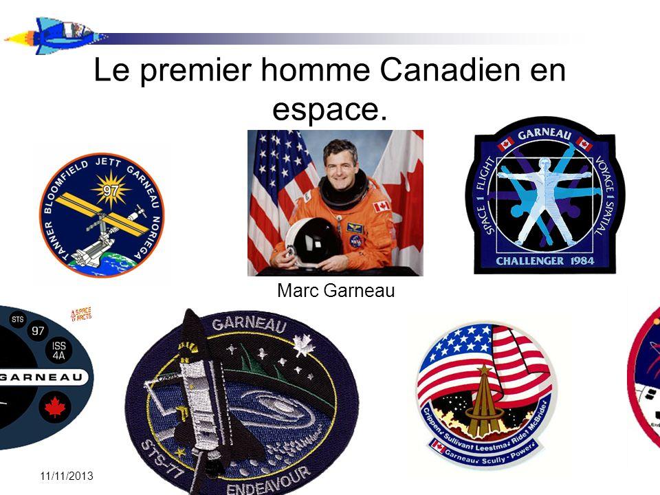 Le premier homme Canadien en espace.
