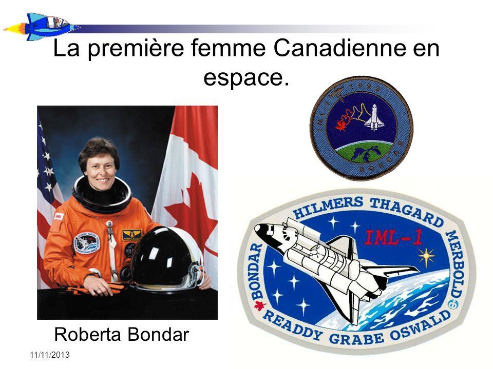 La première femme Canadienne en espace.