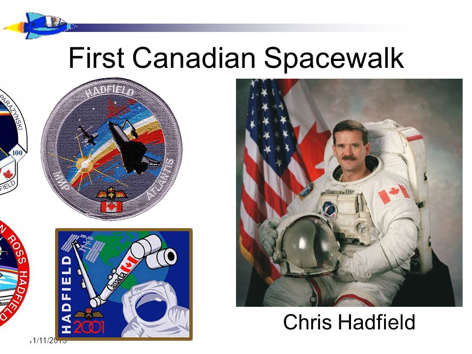 First Canadian Spacewalk