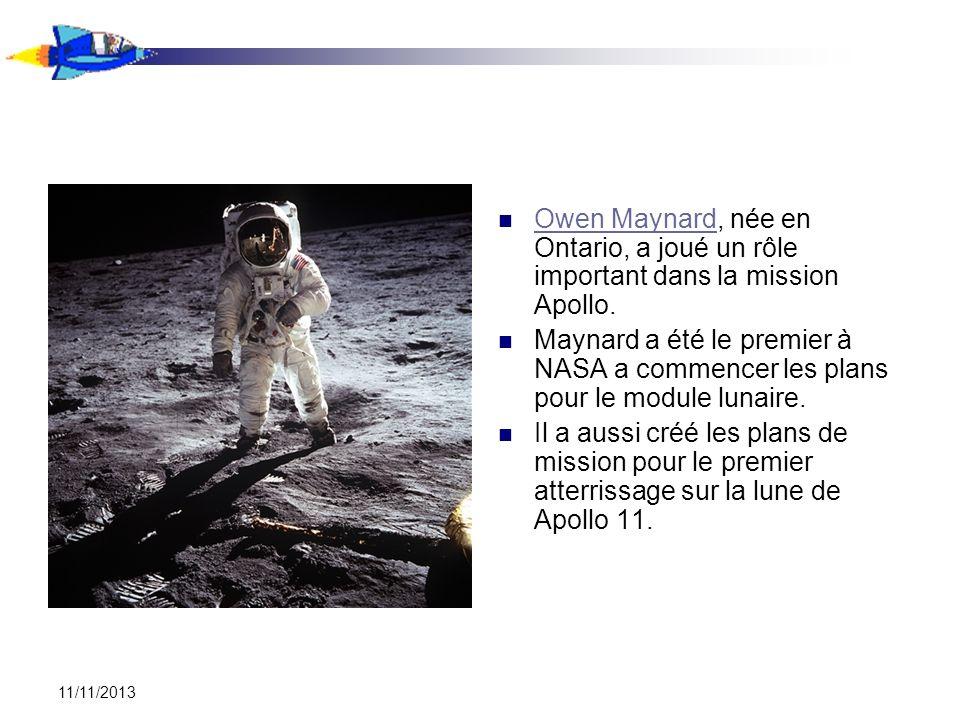 Owen Maynard, née en Ontario, a joué un rôle important dans la mission Apollo.