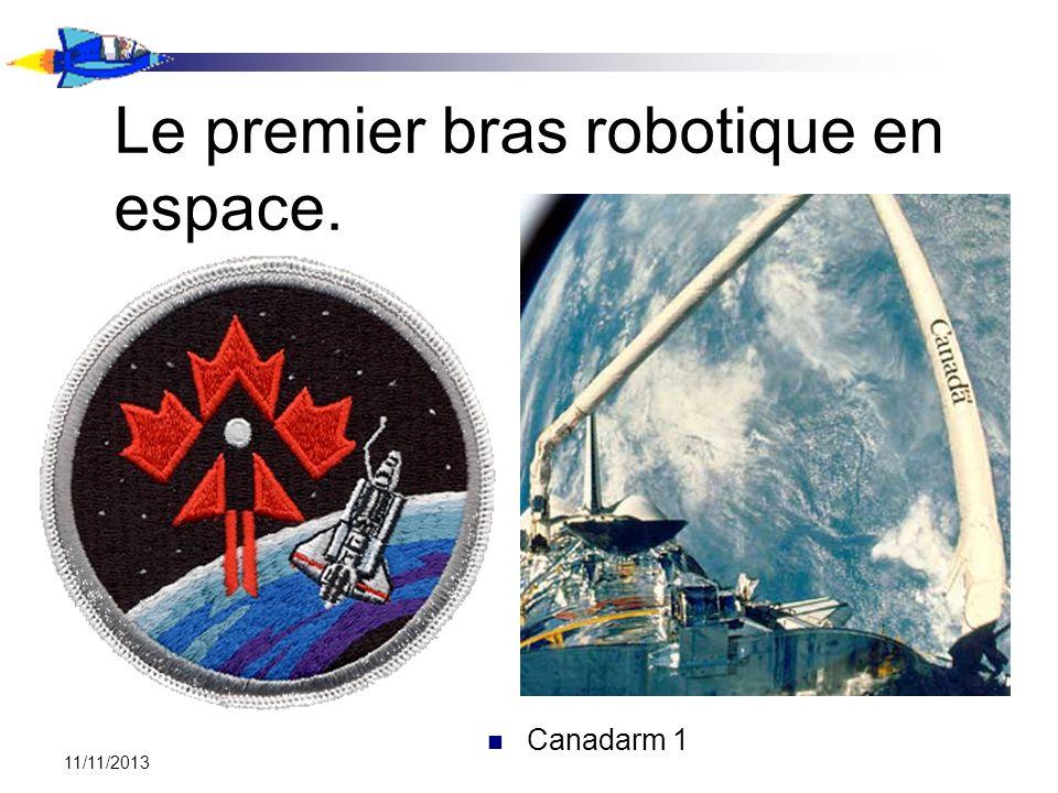 Le premier bras robotique en espace.