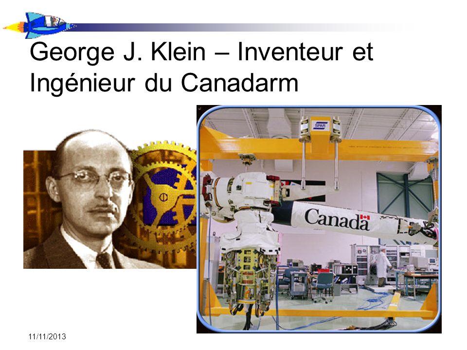 George J. Klein – Inventeur et Ingénieur du Canadarm