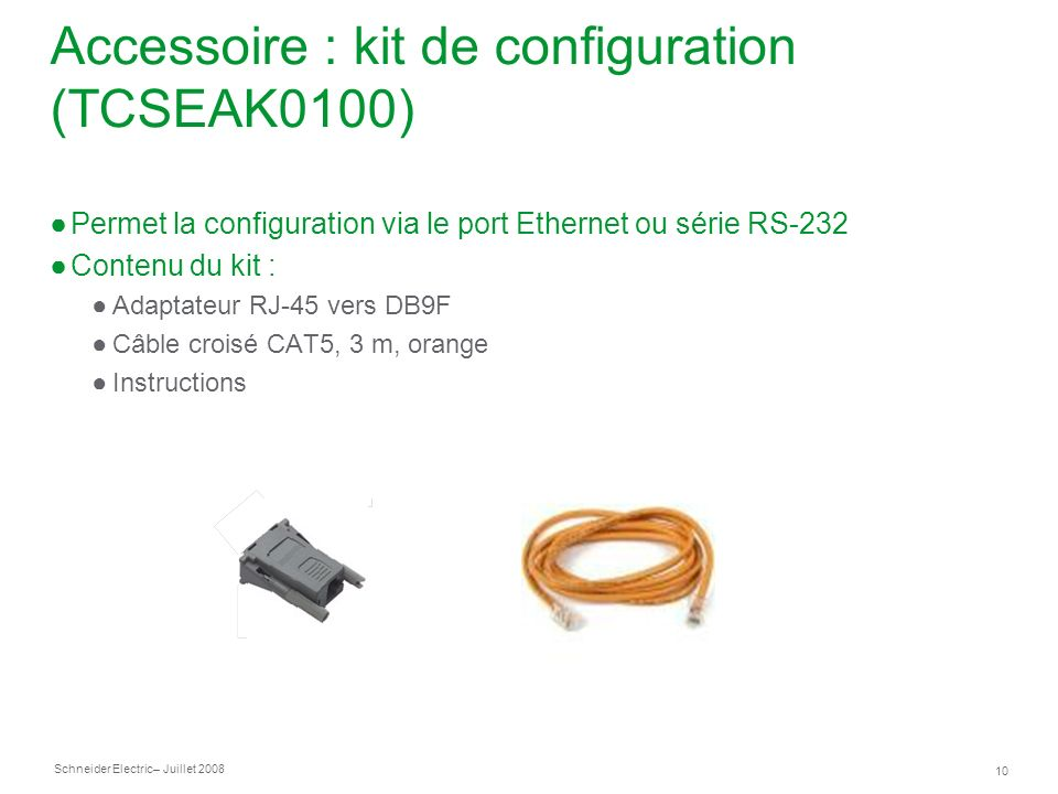 Accessoire : kit de configuration (TCSEAK0100)