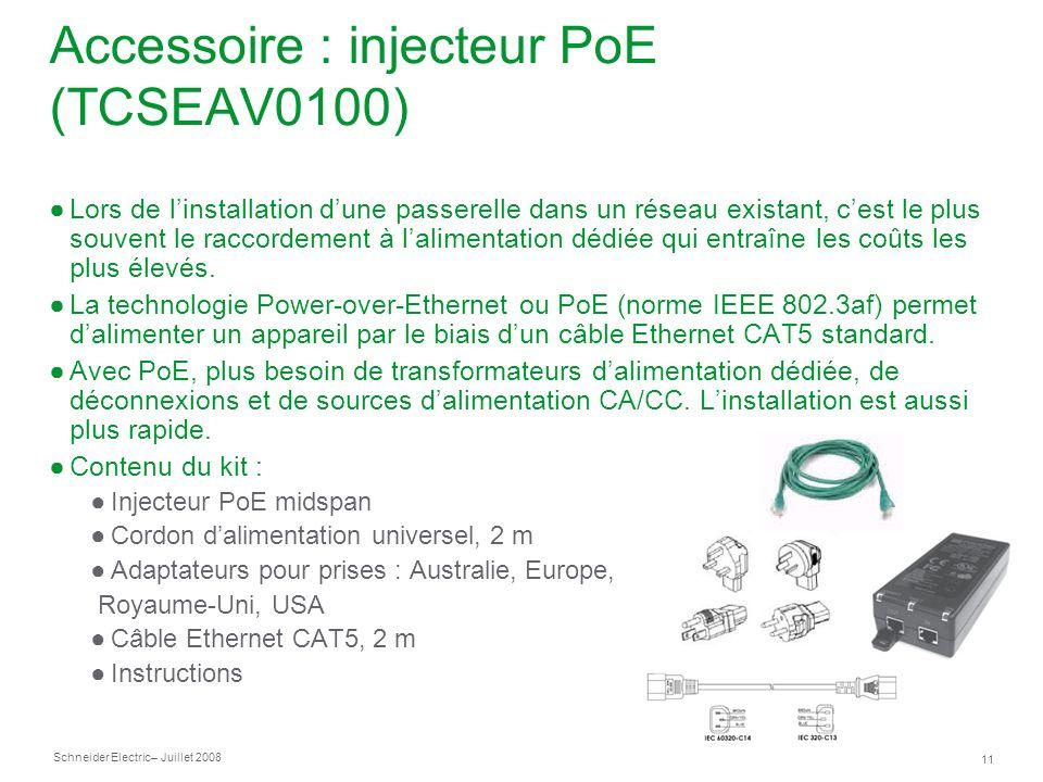 Accessoire : injecteur PoE (TCSEAV0100)