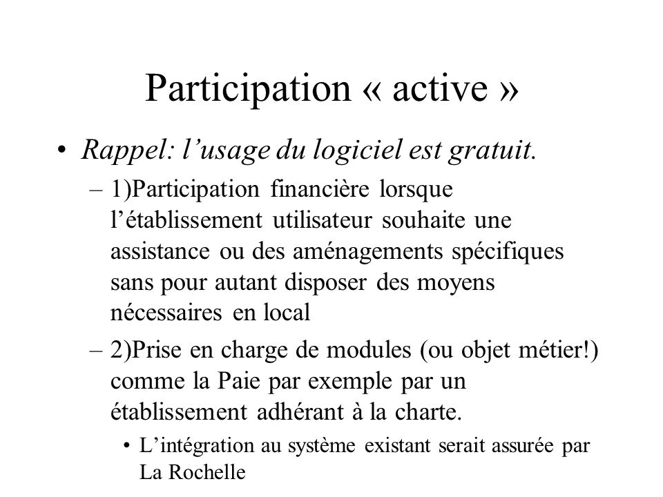 Participation « active »