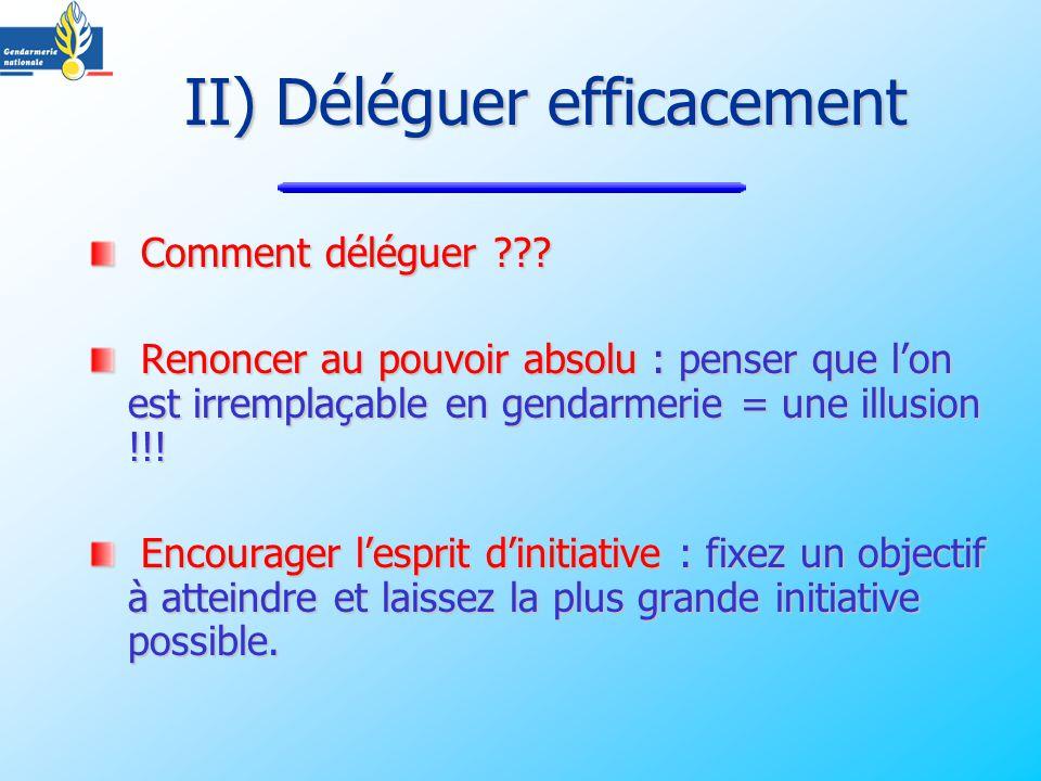 II) Déléguer efficacement