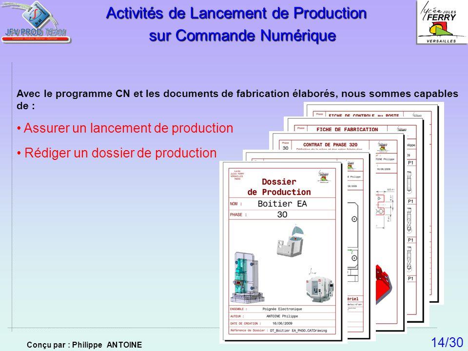 Activités de Lancement de Production sur Commande Numérique