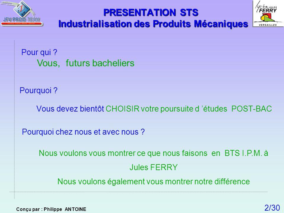 PRESENTATION STS Industrialisation des Produits Mécaniques
