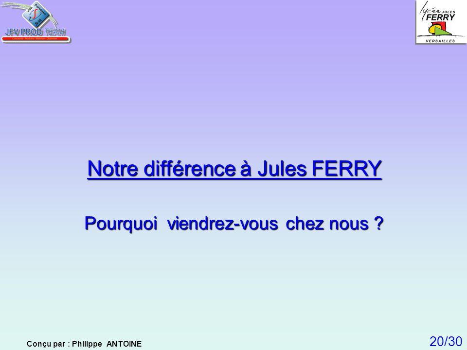 Notre différence à Jules FERRY
