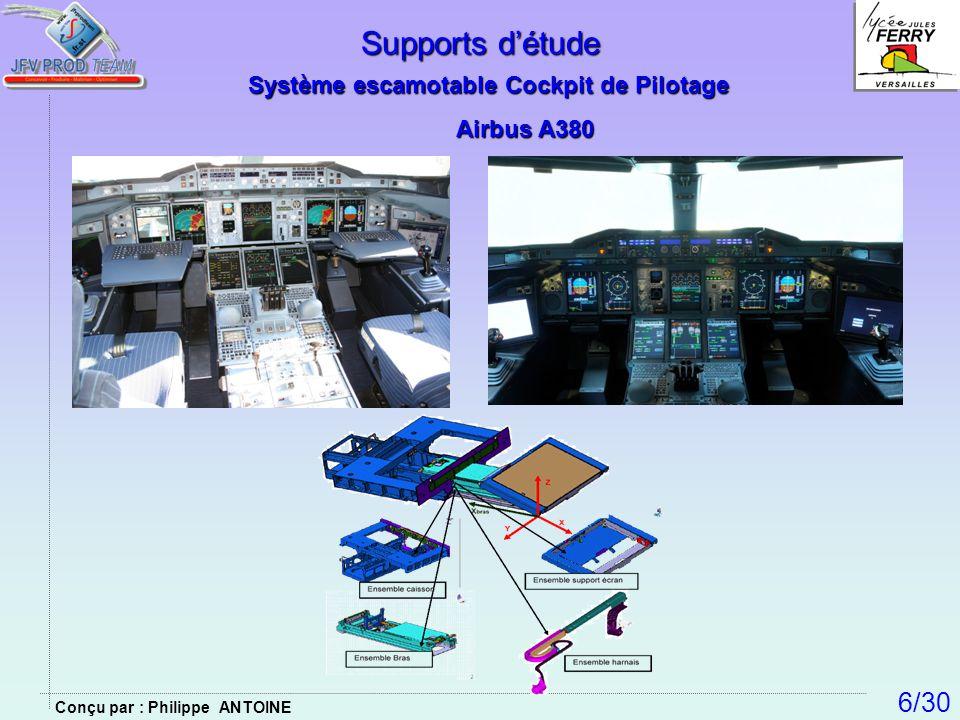 Supports d'étude 6/30 Système escamotable Cockpit de Pilotage