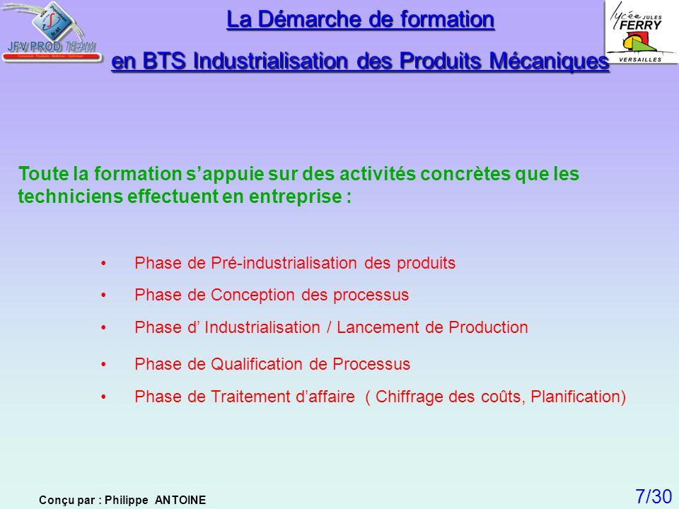 La Démarche de formation en BTS Industrialisation des Produits Mécaniques