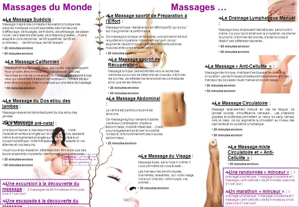 Massages du Monde … Massages … Le Massage pré-natal :
