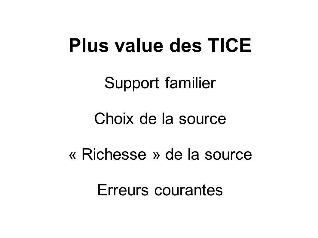 « Richesse » de la source