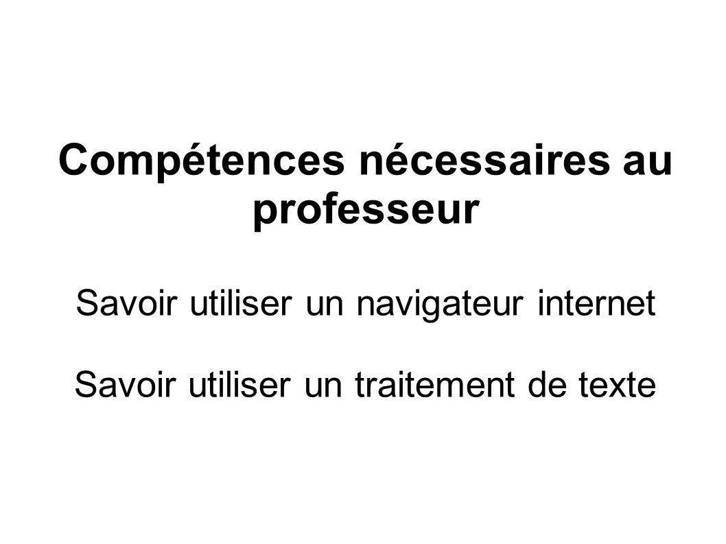 Compétences nécessaires au professeur