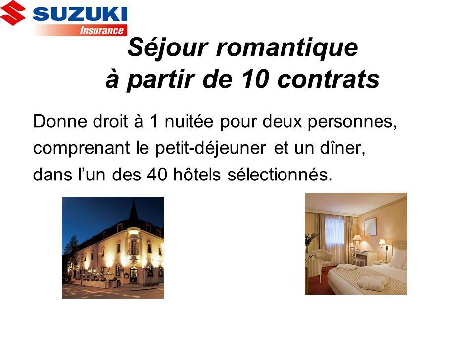 Séjour romantique à partir de 10 contrats