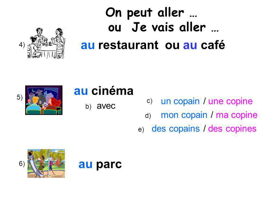 au restaurant ou au café