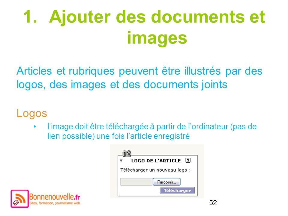 Ajouter des documents et images